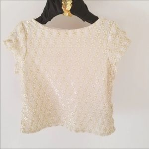 Cream and lace blouse